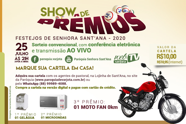Show de Prêmios dos Festejos de Senhora Sant'Ana 2020